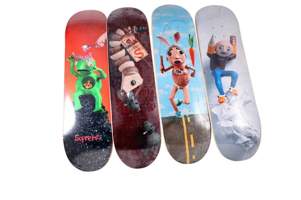 Lot #9755 – Mike Hill x Supreme  Skateboard Deck Set Mike Hill Skateboard