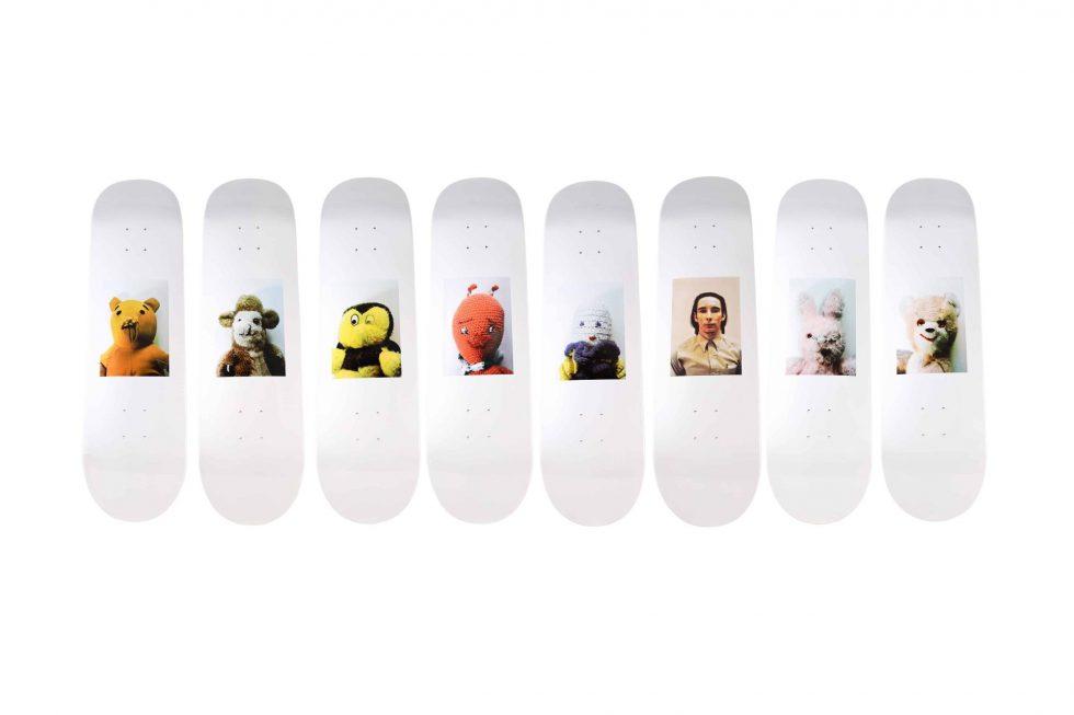 Lot #9756 – Mike Kelley x Supreme Skateboard Deck Set Mike Kelley Skateboard