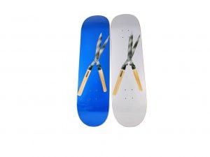 Lot #10714 – Supreme Shears Skateboard 2 Deck Set Skateboard Decks Skateboard