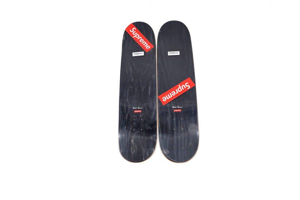 Lot #9806 – Supreme Shears Skateboard 2 Deck Set Skateboard Decks Skateboard