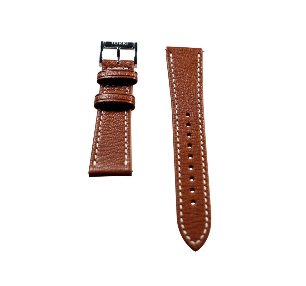 Lot #6405A – Tokki Project Etesian Artemis Brown Sheep Skin Watch Strap 22MM 22mm Straps [tag]