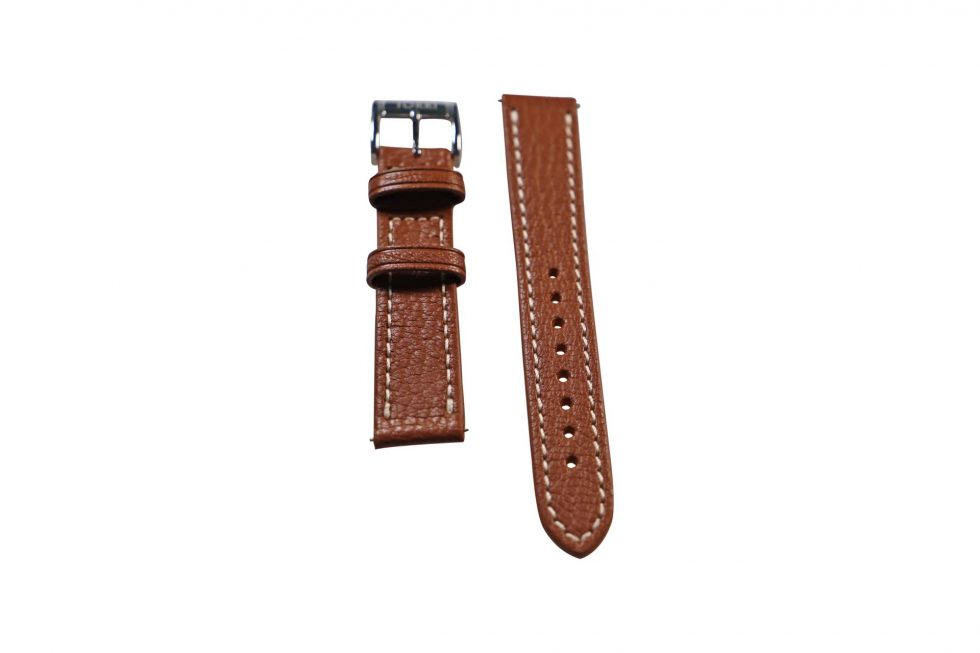Lot #6408 -Tokki Project Etesian Artemis Brown Sheep Skin Watch Strap 18MM 18mm Straps [tag]