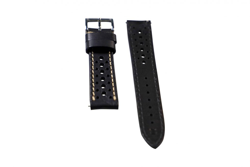 Lot #6415 – Tokki Project Harmattan Desert Night Leather Watch Strap 20MM 20mm Straps Tokki Project Harmattan