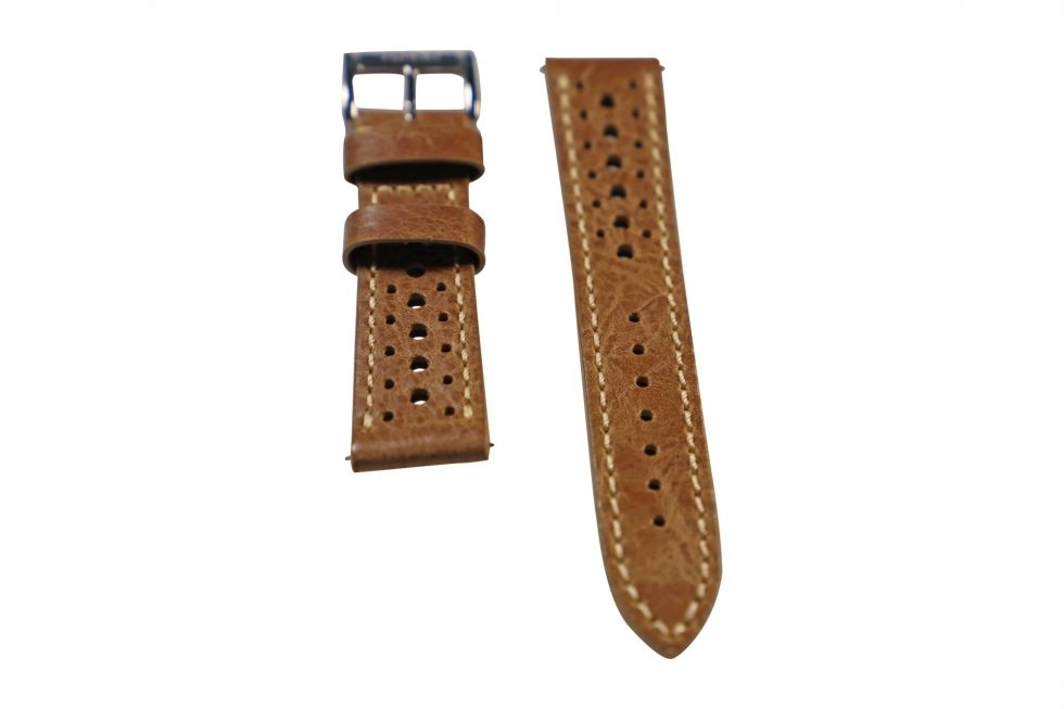 Lot #6417 – Tokki Project Harmattan Signature Distressed Leather Watch Strap 20MM 20mm Straps [tag]