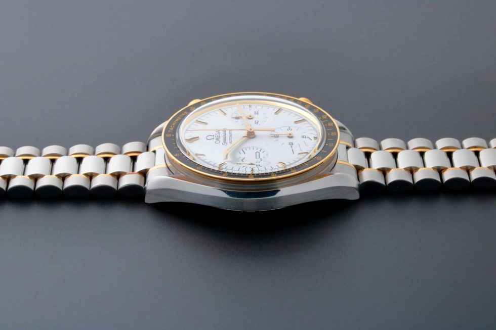 Lot #9228 – Omega 175.0032 Speedmaster Tutone White Dial Watch 175.0032 Omega 175.0032