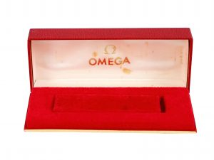 Lot #6795 – Omega Red Watch Box Vintage Omega [tag]