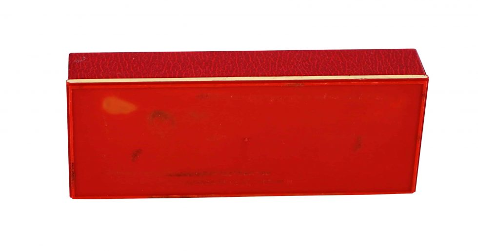 Lot #11006 – Omega Red Watch Box Vintage Omega [tag]