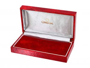 Lot #6804 – Red Omega Vintage Watch Box Omega [tag]