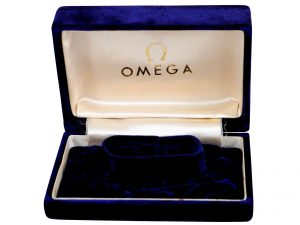Lot #6808 – Omega Watch Box Royal Blue Vintage Omega [tag]
