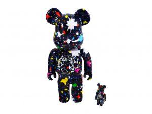 Lot #11082 – Billionaire Boys Club Starfield Bearbrick 400% and 100 % Set x Medicom Toy Art Toys [tag]