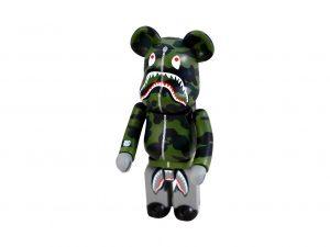 Lot #8629 – Bape 1st Camo Shark Bearbrick Chogokin 200% Green Art Toys Bape Chogokin