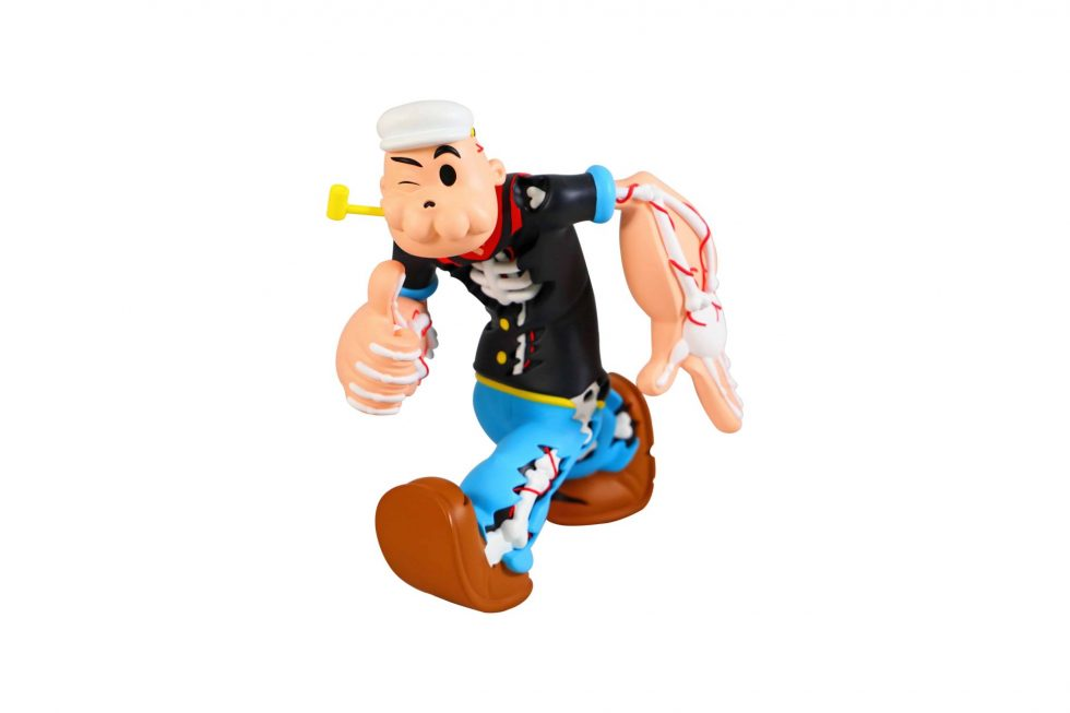 Cote Escriva Creepy Popeye Limited Edition Sculpture – Baer & Bosch Toy Auctions