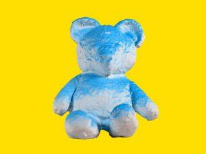 Lot #11161 – Daniel Arsham Cracked Bear Blue Sculpture Limited Edition Art Toys Daniel Arsham Cracked Bear