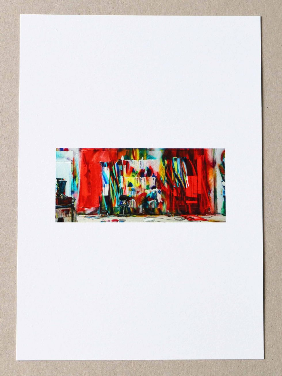 Lot #9517 – Katharina Grosse Der Stuhl Print Limited Edition Art Katharina Grosse