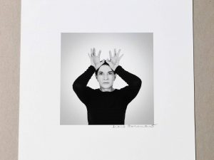 Lot #9512 – Marina Abramović Hands as Energy Receivers Pigment Print Limited Edition Art Marina Abramović