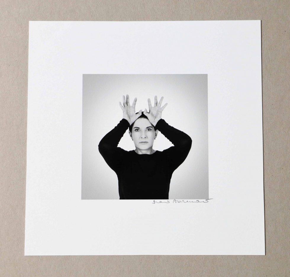 Lot #9512 – Marina Abramović Hands as Energy Receivers Pigment Print Limited Edition Art Marina Abramović