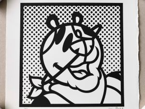 Lot #9525 – Grafflex PLNT TIGER Screenprint Limited Edition Art Grafflex PLNT TIGER