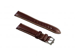 Lot #6437 – Zenith 18mm Tang Buckle with 20mm Generic Leather Strap Watch Parts & Boxes [tag]