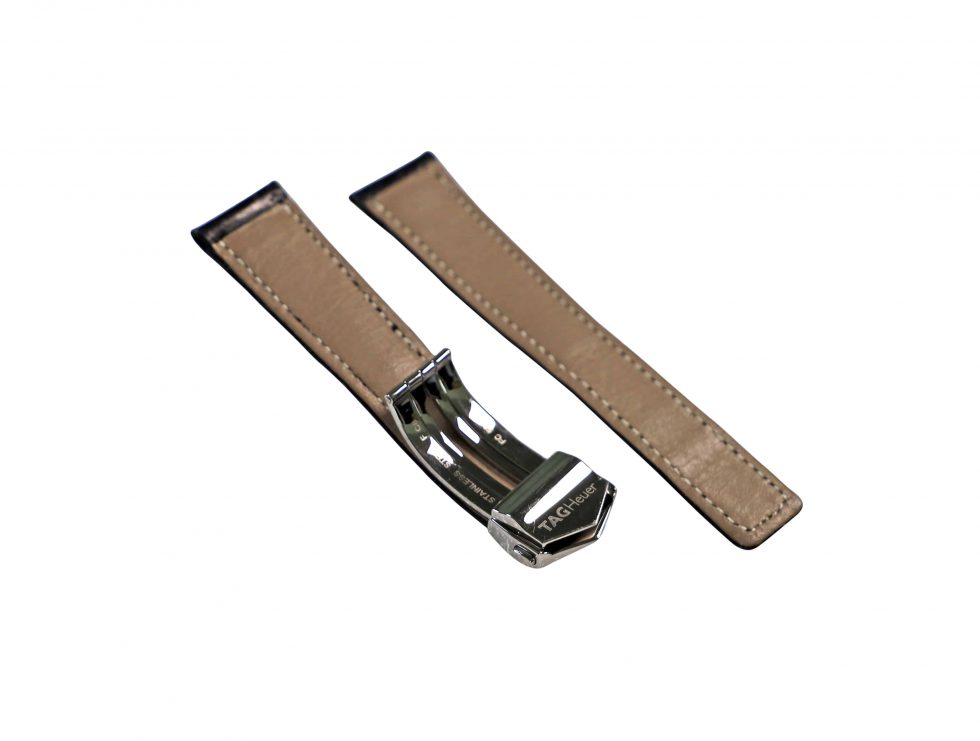 Lot #6439 – Tag Heuer FC5014 Deployant Buckle with Generic Leather Strap Watch Parts & Boxes [tag]
