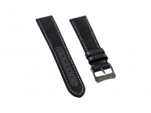 Lot #6447A – Raymond Weil Geneve 20mm Canvas Leather Watch Strap With 18mm Tang Buckle Raymond Weil [tag]