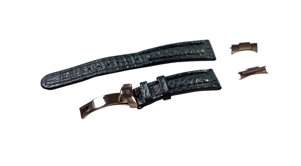 Lot #6448 –  Tudor 20mm Leather Strap With Watch Buckle _ Tudor End Pieces Watch Parts & Boxes [tag]