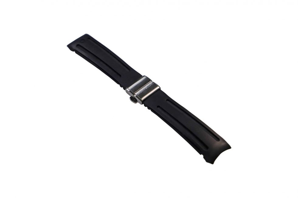 Lot #6449A – Montblanc Rubber Watch Strap with Deployant Buckle Watch Parts & Boxes [tag]