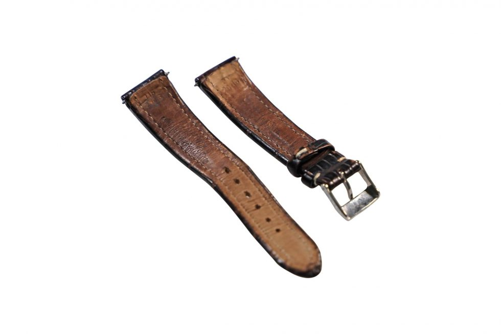 Lot #6450A – Breitling 20mm Alligator Watch Strap with 16mm Tang Buckle Watch Parts & Boxes [tag]