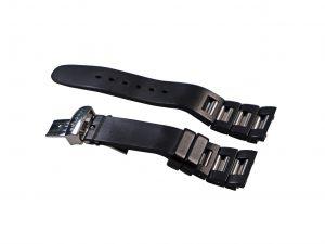 Lot #6455A – Bvlgari RTC49 Rettangolo Chronograph Rubber & Stainless Steel Bracelet 21MM Bvlgari [tag]
