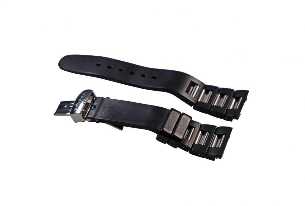 Lot #6455A – Bvlgari RTC49 Rettangolo Rubber & Stainless Steel Bracelet 21MM Watch Bracelets [tag]