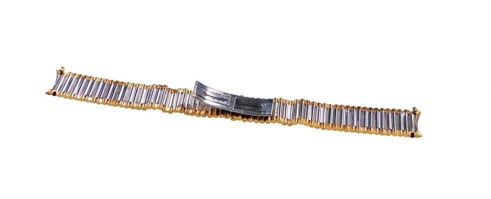 Lot #6456 – Corum Medicus Stainless Steel _ Gold Tone Watch Bracelet 14MM Ladies Watch Bracelets [tag]