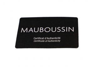Lot #6468 – Mauboussin Watch Warranty Card Mauboussin [tag]