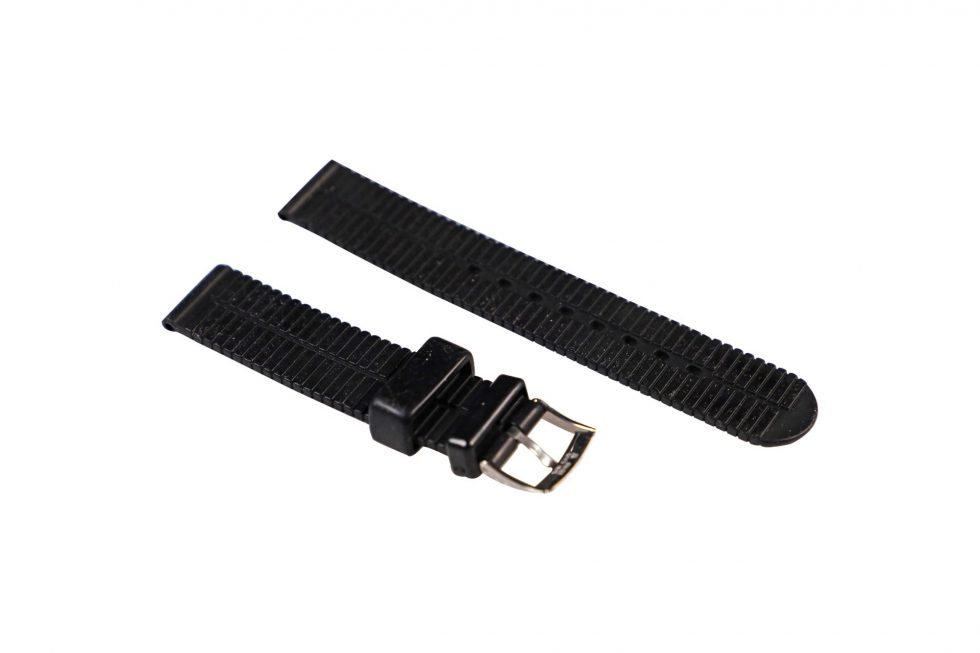 Lot #6470 – Chopard 18MM Rubber Watch Strap With 16MM Tang Buckle Watch Parts & Boxes [tag]