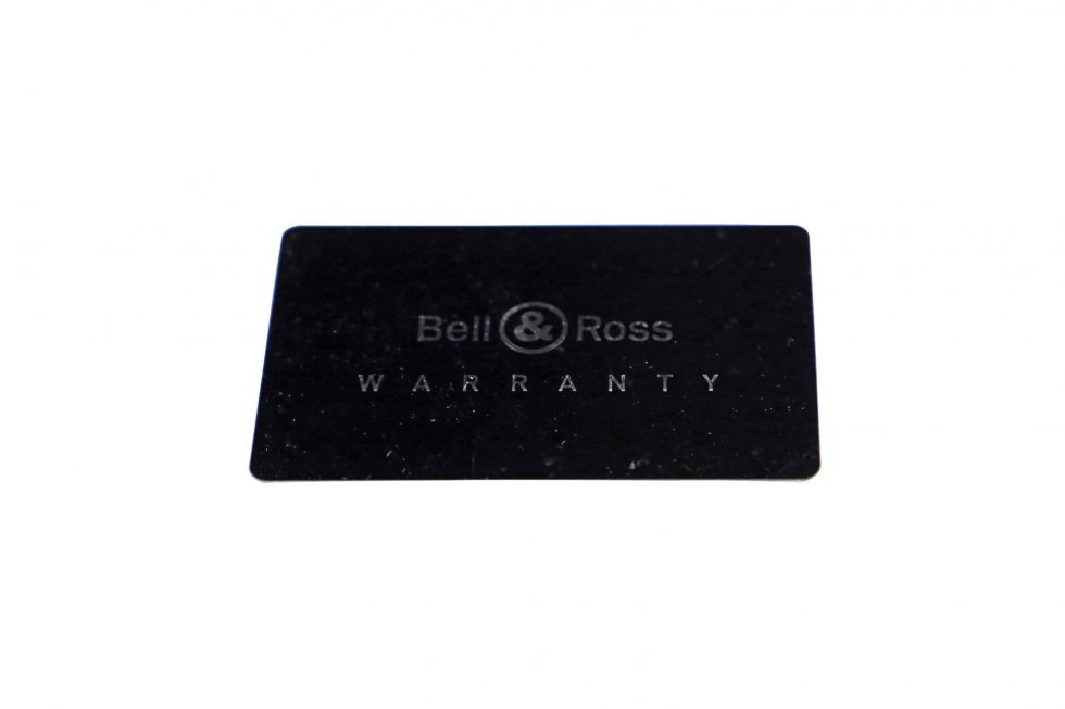 Lot #6474 – Bell & Ross Watch Warranty Guarantee Card Watch Parts & Boxes [tag]