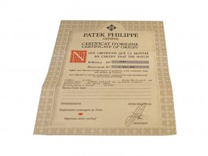 Lot #6480A – Patek Philippe 3585 Watch Warranty Papers Vintage Watch Parts & Boxes [tag]
