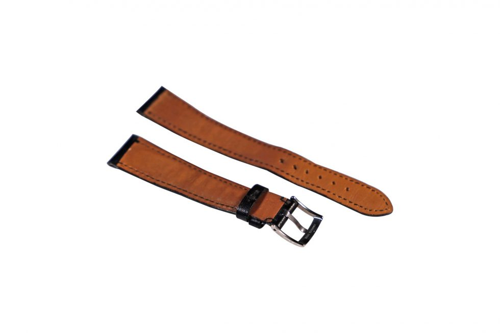 Lot #6495 – Bvlgari 18mm Leather Watch Strap With 14mm Bulgari Tang Buckle Watch Parts & Boxes [tag]