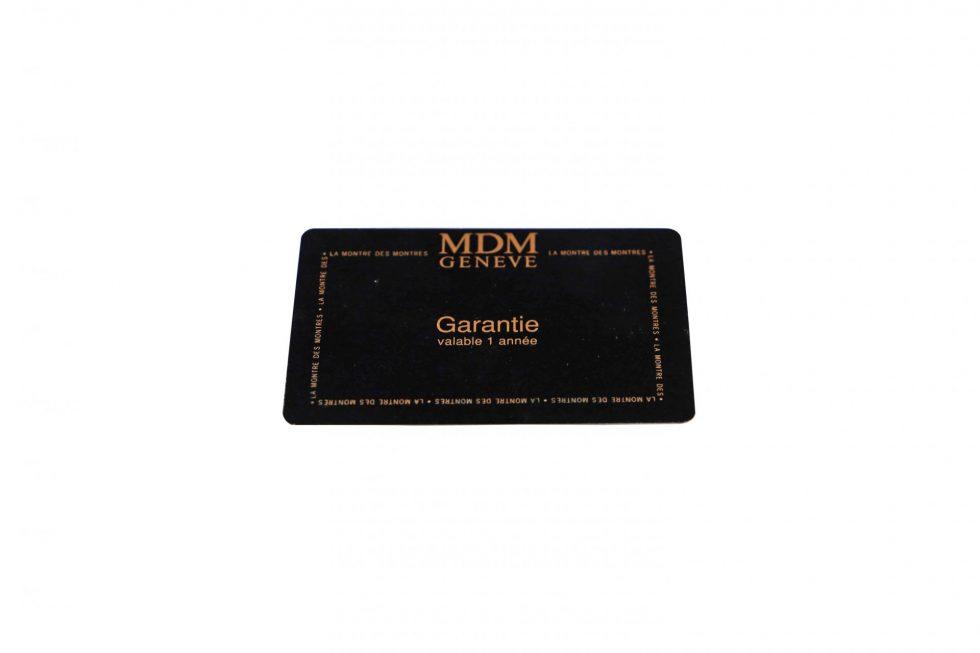 Lot #6499 – Hublot MDM Geneve Watch Guarantee Warranty Card Watch Parts & Boxes [tag]
