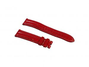 Lot #6504 – Omega 18mm Double Ridge Leather Watch Band Red Omega [tag]