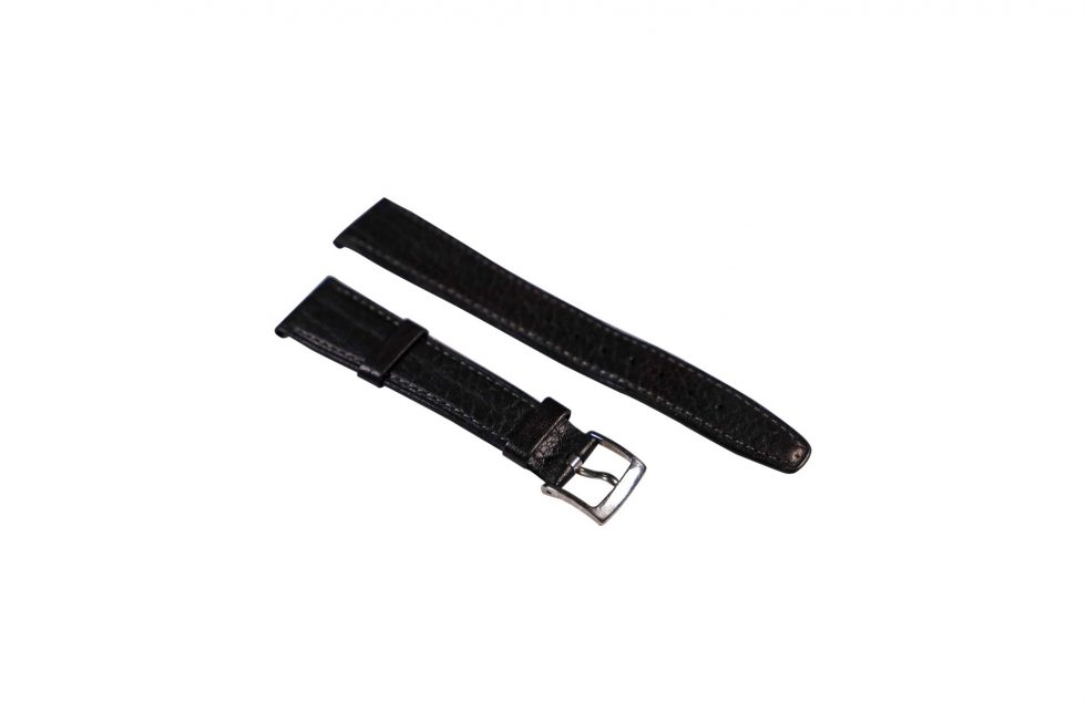 Lot #6507 – Bvlgari 14mm Tang Buckle With 18mm Generic Leather Watch Strap Watch Parts & Boxes [tag]