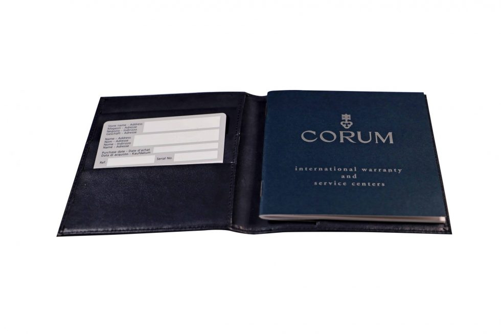 Lot #6513 – Corum Watch Guarantee Warranty Card With Service Center Booklet Watch Parts & Boxes [tag]