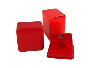 Lot #11011 – Omega Red Vintage Cuff Watch Box With Outer Box Watch Parts & Boxes [tag]