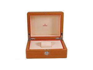 Lot #11025 – Omega Wood Presentation Watch Box Watch Parts & Boxes [tag]