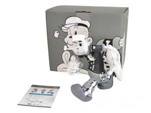 Lot #8597 – Cote Escriva x Thunder Mates Creepy Popeye Monochrome Version Limited Edition Sculpture Art Toys Cote Escriva