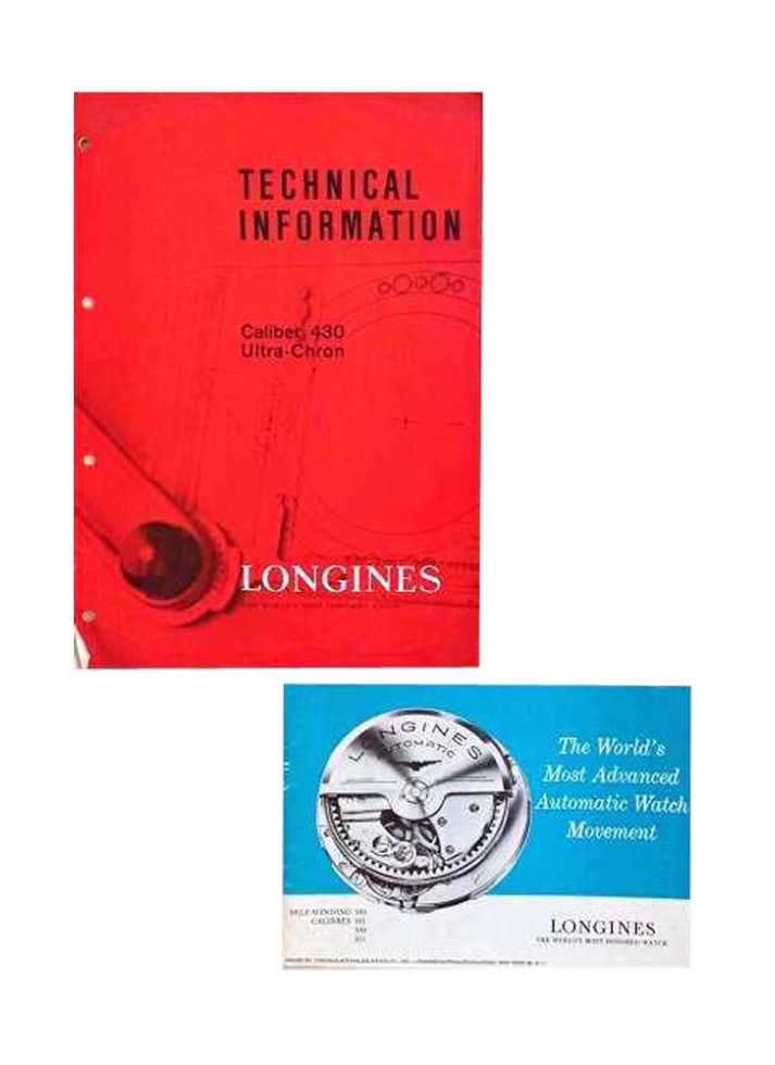 Lot #7630 – Vintage Longines Technical Caliber Brochures Accessories Longines