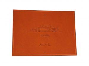 Lot #9536 – Schedoni Ferrari Challenge Leather Print Lime Rock, CT Art [tag]