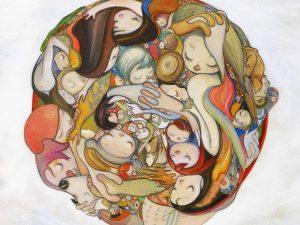 Lot #10545 – Tohru Patrick Awa Anonymous Hug Giclee Limited Edition Art Tohru Patrick Awa