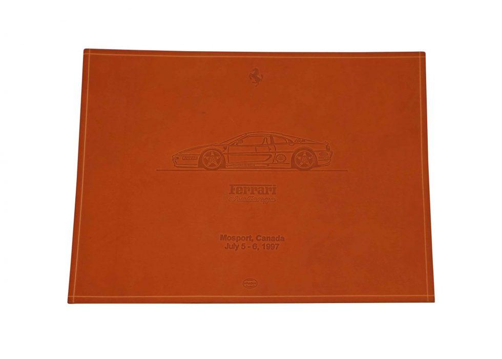 Lot #9561 – Schedoni Ferrari Challenge Leather Print Mosport Canada Art [tag]