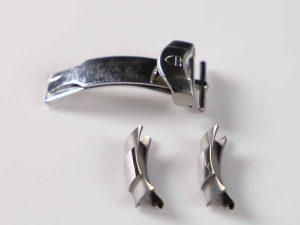 Lot #9143 – Tudor Deployant Buckle & Watch Bracelet End Pieces Set Parts Tudor [tag]
