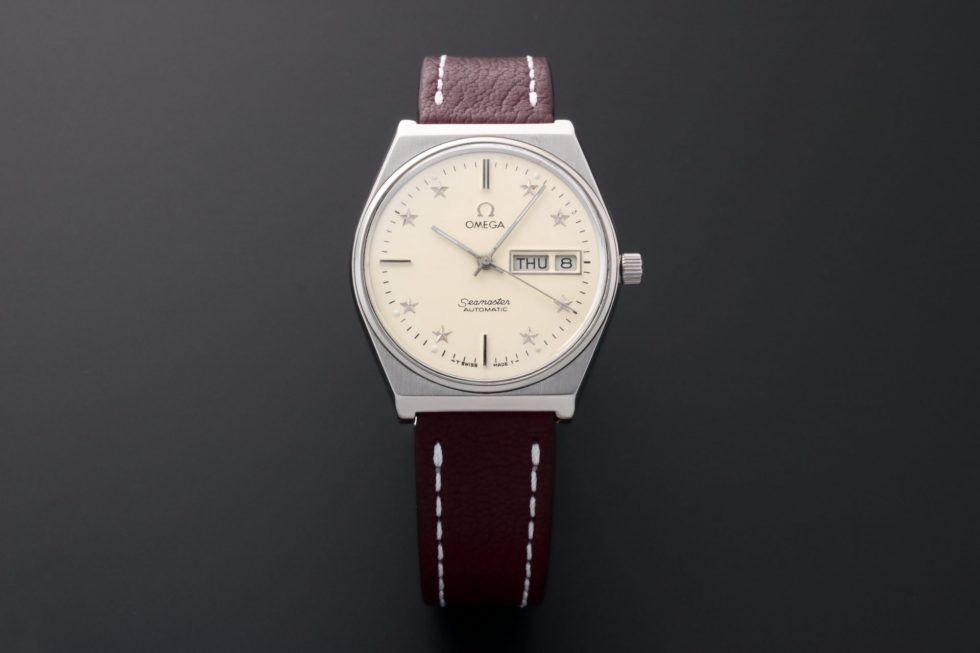 Lot #10943 – Omega Seamaster Day Date Star Dial Watch 166.0210 166.0210 Omega 166.0210