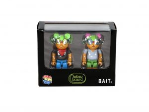 Lot #9132– Hebru Brantley Flyboy & Lil Mama Bearbrick 100% Set Medicom Toy Art Toys [tag]