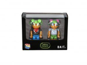 Lot #10547– Hebru Brantley Flyboy & Lil Mama Bearbrick 100% Set Medicom Toy Art Toys [tag]